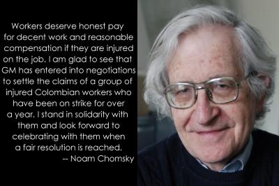 Chomsky Apoya a Asotrecol - Chomsky Supports Asotrecol